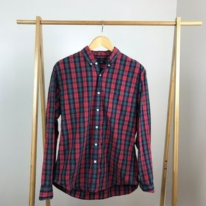 J. Crew • Plaid Button Down Shirt Size Large Red